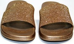 Обувь женская шлепанцы J.B.P. Shoes NU25 Gold.