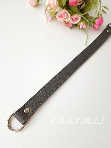 Ручка 33 см. на полукольцах, цвет Серый фактурный