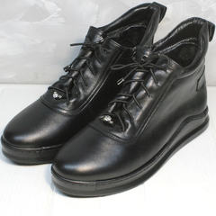 Высокие кеды женские Evromoda 375-1019 SA Black
