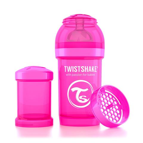 Twistshake бутылочка антиколиковая 180 мл. Розовая (Crazymonkey)