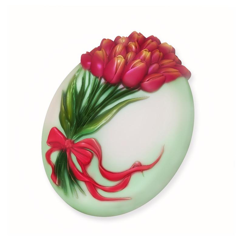 Букет тюльпанов, форма пластиковая