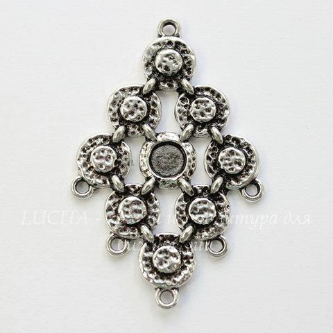 Коннектор (1-5) 49х32 мм (цвет - античное серебро)