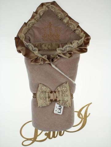 Зимний велюровый конверт Очарование (молочный шоколад)