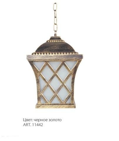 Светильник садово-парковый, 60W 230V E27 IP44 черное золото, PL4064 (Feron)