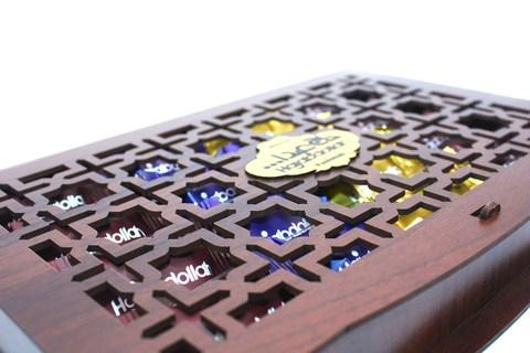 Ассорти пишмание в подарочной деревянной упаковке, Hajabdollah, 200 г
