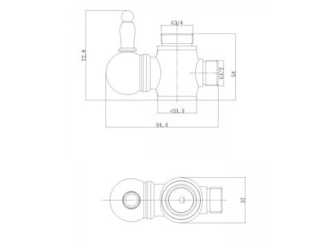 Душевая система Aksy Bagno Faenza  Fa410-2005-2001-Bronze схема