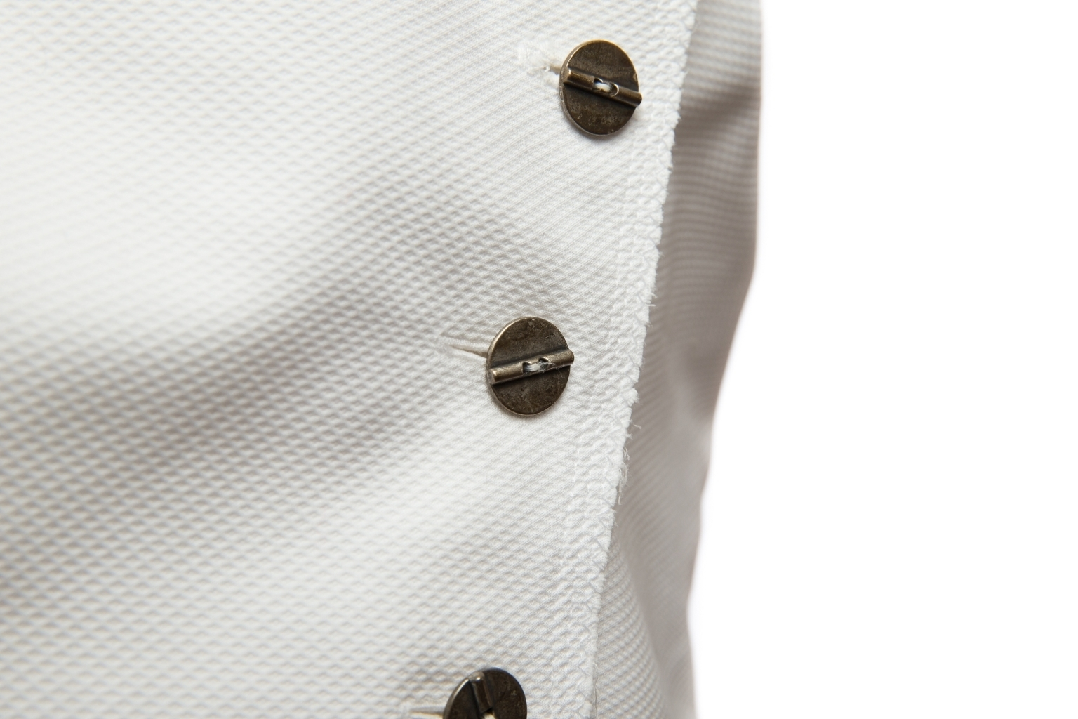 Элегантный белый топ из хлопка от Chanel, 34 размер.