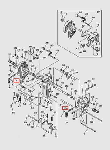 Зажим винтовой струбцины  для лодочного мотора T40 Sea-PRO (18-2/7)