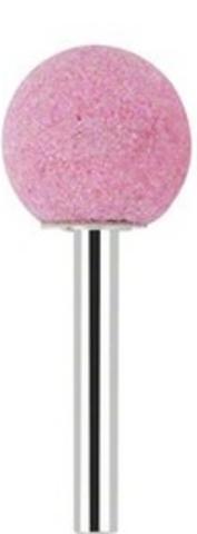 Бор корундовый абразивный шаровидный (розовый) 4 мм
