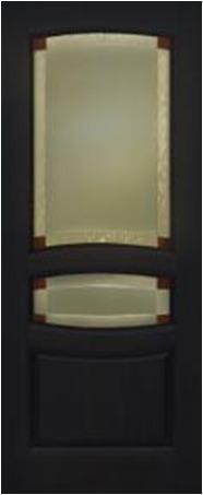 Дверь межкомнатная,Россич Персей ДО, Витраж , Цвета: Черный дуб