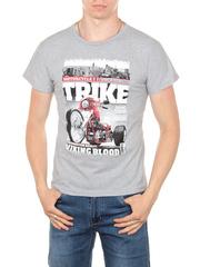 11113-7 футболка мужская, серая