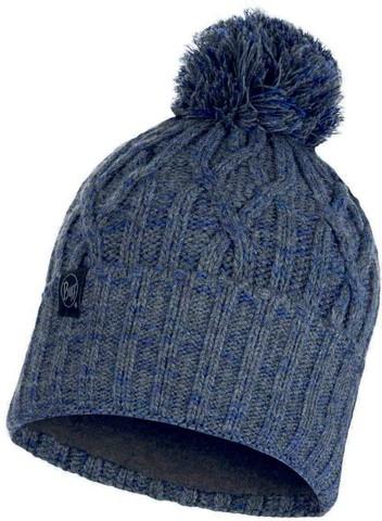 Вязаная шапка с флисовой подкладкой Buff Hat Knitted Polar Idun Grey