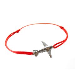 Браслет самолет на нити (цвет нити выбирайте при оформлении заказа)