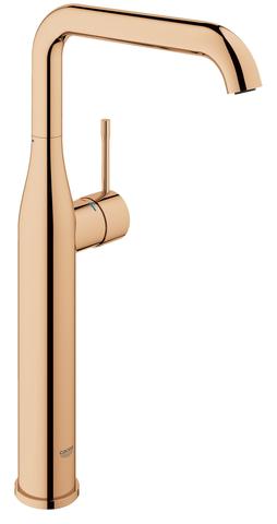 Essence New Смеситель однорычажный для свободностоящей раковины U-излив, гладкий корпус, цвет: теплый заказ, глянец