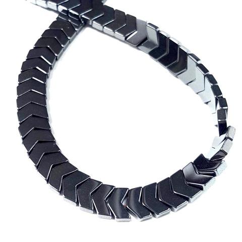 Бусины гематит уголок 10х7 мм черный 1 штука