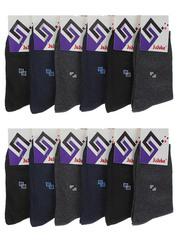 F503-6 носки мужские 40-47 (12шт), цветные