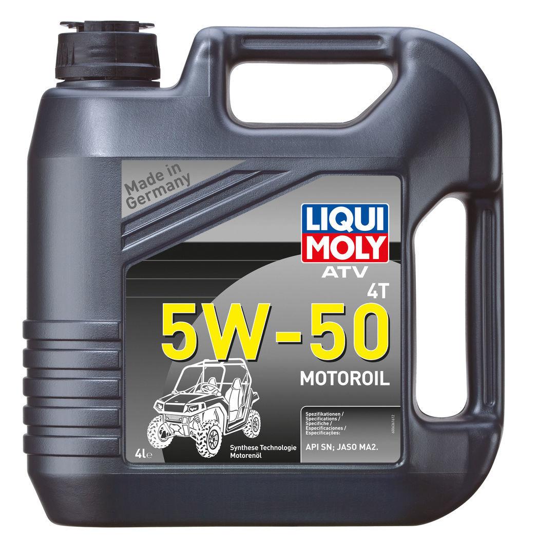Liqui Moly ATV 4T Motoroil 5w50 НС синтетическое моторное масло для 4T мотоциклов