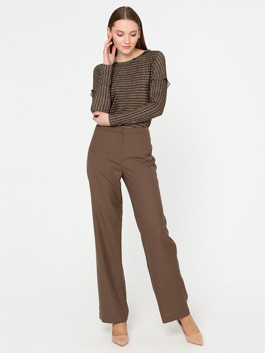 Брюки А438-349 - Стильные широкие брюки-палаццо из струящейся ткани. Эта модель прекрасно подойдет как для повседневной жизни, так и для праздничного образа или  работы в офисе.
