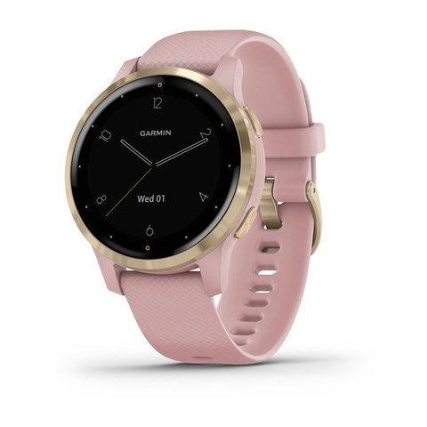 Купить Смарт часы Garmin Vivoactive 4S, розовые с золотистым безелем 010-02172-33 по доступной цене