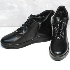 Черные кеды женские Evromoda 375-1019 SA Black