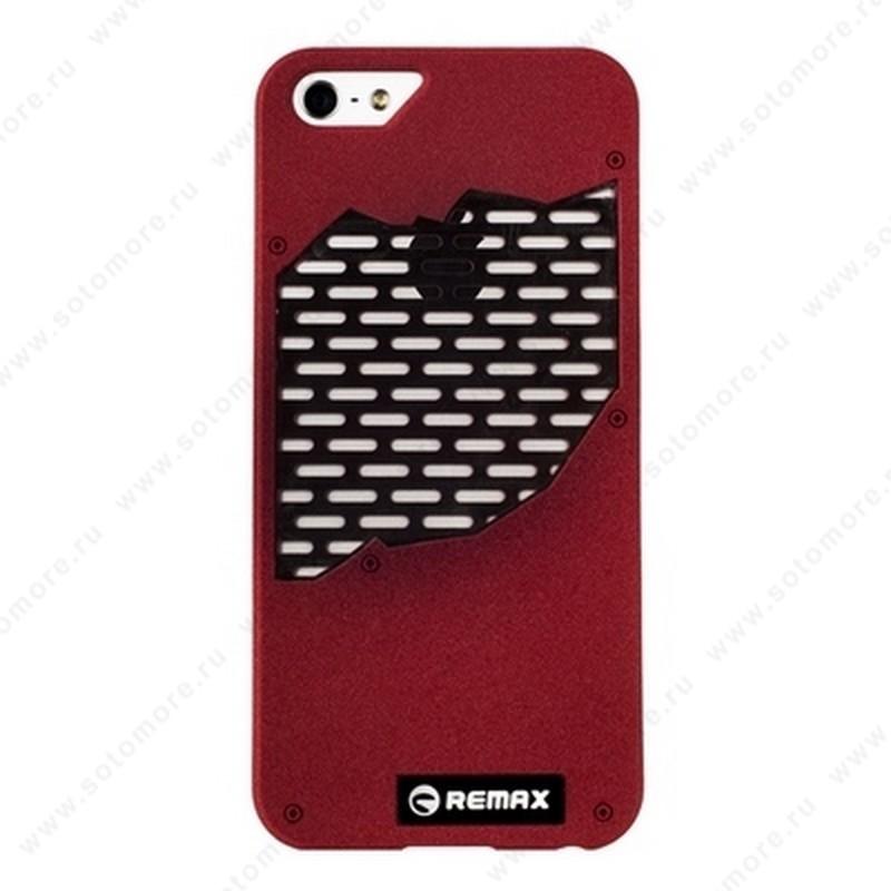 Накладка REMAX для iPhone SE/ 5s/ 5C/ 5 с решеткой красная