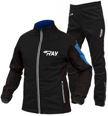 Утеплённый лыжный костюм RAY Pro Race WS Black-Blue мужской