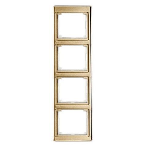 Рамка на 4 поста, вертикальная. Цвет Золотая бронза. JUNG SL. SL584GB