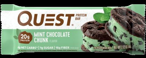 Протеиновые батончики Quest Bar Mint Chocolate Chunk (Печенье с мятным шоколадом), 1 шт