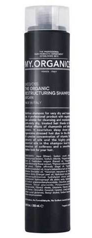 Реконструирующий шампунь для сухих и поврежденных волос, My.Organics