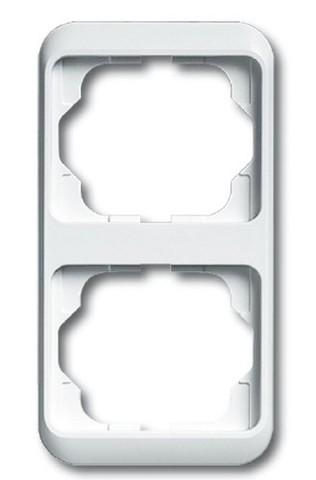 Рамка на 2 поста, вертикальный монтаж. Цвет Белый глянцевый. ABB(АББ). Alpha Nea(Альфа Ние). 1754-0-4528