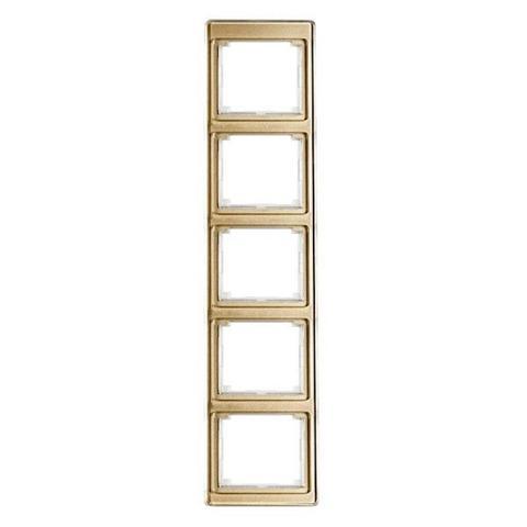 Рамка на 5 постов, вертикальная. Цвет Золотая бронза. JUNG SL. SL585GB