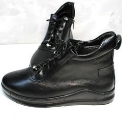 Ботинки сникерсы женские Evromoda 375-1019 SA Black