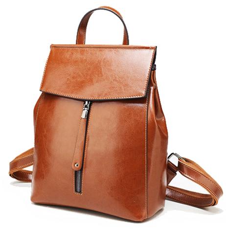 Рюкзак женский JMD Zip 2017 Рыжий