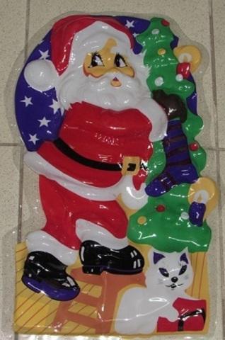 Панно Дед мороз С-1958 пластик