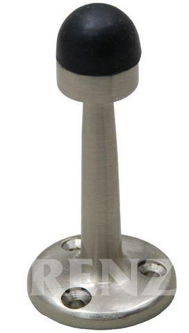 Фурнитура - Ограничитель Дверной настенный Renz DS 77, цвет никель матовый