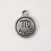"Подвеска TierraCast знак зодиака ""Дева"" (цвет-античное серебро) 19х15 мм"