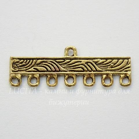 Коннектор (1-7) 30х11 мм (цвет - античное золото), пара