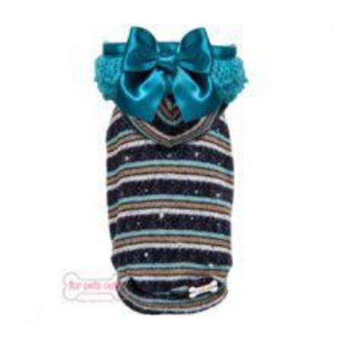 Бомбер Rain Bomber Teal/Violet Wool Pull For Pets