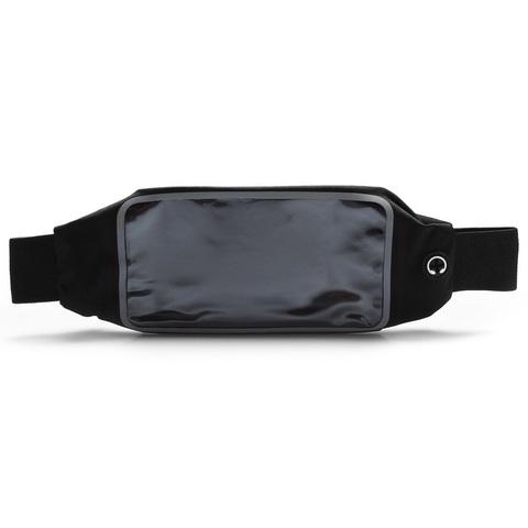Сумка на пояс для телефона 23 см, черная