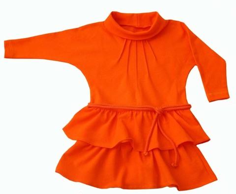 212 Платье для девочки оранжевое