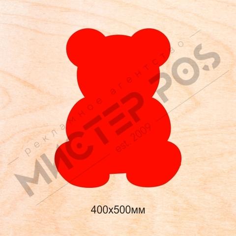 Основа для бизиборда мишка 400х500мм из фанеры 9-10мм