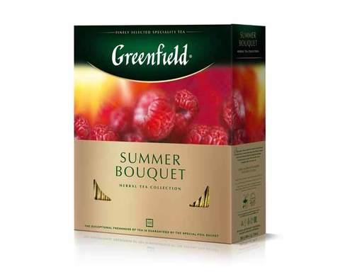 Чай фруктовый в пакетиках из фольги Greenfield Summer Bouquet, 100 пак/уп