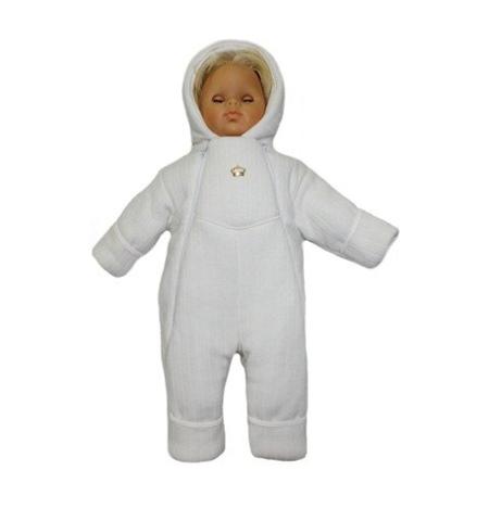 Комбинезон вязаный для новорожденного Persona белый