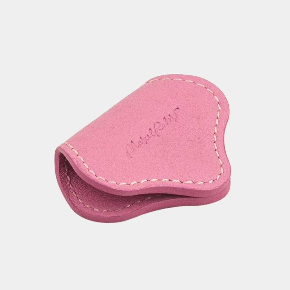 Чехол-держатель для наушников Chapeau Easy из натуральной кожи теленка, розового цвета