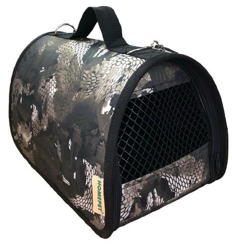 HOMEPET сумка-переноска Змея серая №1 35х22х23 см