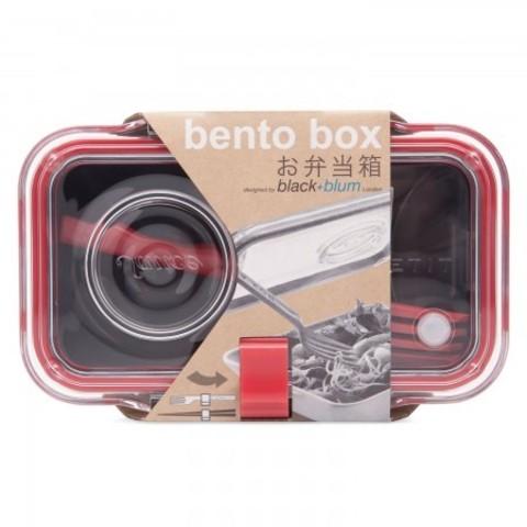 Ланч бокс с вилкой Bento Box, черный