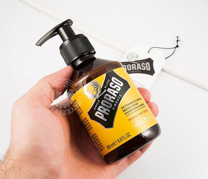 RAZ400750 Шампунь для бороды «Wood and Spice» от итальянского бренда «Proraso» (200 мл) фото 02
