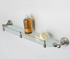 Полка в ванную WasserKRAFT Ammer K-7044 стеклянная с бортиком