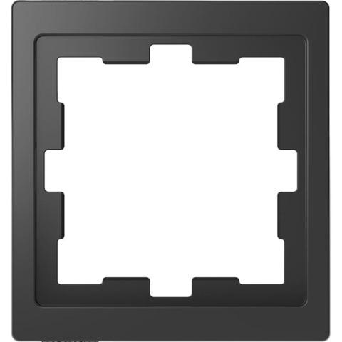 Рамка на 1 пост. Цвет Антрацит. Merten D-Life System Design. MTN4010-6534