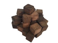 Щепа дубовая кавказская (сильный обжиг) (кубическая форма) 50 грамм